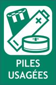 logo recyclage piles usagées
