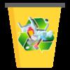 logo recyclage poubelle jaune
